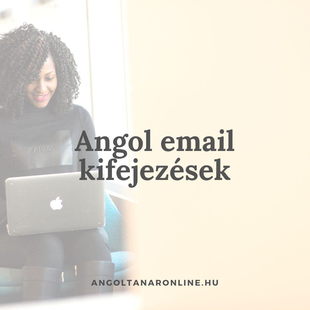 Angol email kifejezések